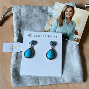 Kendra Scott turquoise color bar drop earrings